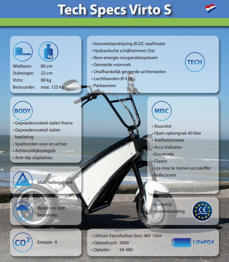 Technische specificaties Virto