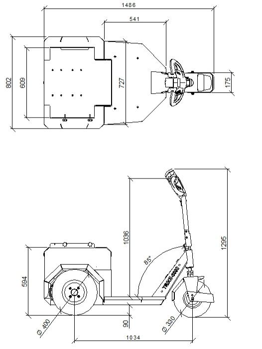 Afmetingen Horti-Trike XL 3000