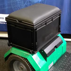 Kiste mit Sitzfläche für die Horti-Trike XL